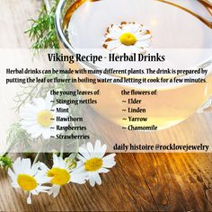 Had a rough day pillaging?  Unwind with some herbal tea, Viking-style.