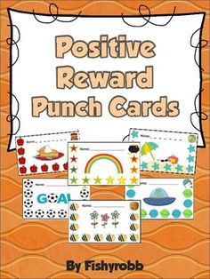 Postitive Reward Punch Cards - Student Incentives