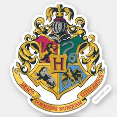 Customizable Custom-Cut Vinyl Sticker made by Zazzle Paper. Personalize it with photos & text or shop existing designs! Cute Laptop Stickers, Bubble Stickers, Cool Stickers, Funny Stickers, Printable Stickers, Capa Harry Potter, Harry Potter Crest, Harry Potter Magic, Harry Potter Hogwarts