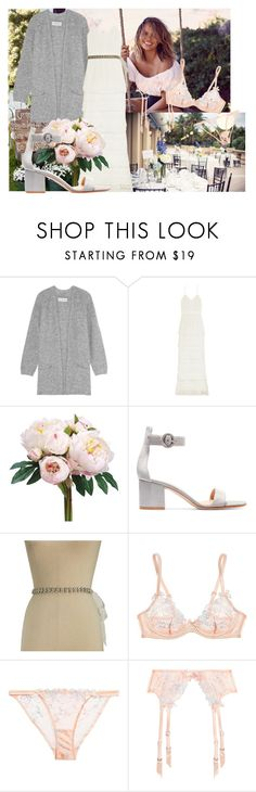 """Wedding #1"" by via108 on Polyvore featuring WALL, By Malene Birger, self-portrait, Gianvito Rossi, Kate Spade and Agent Provocateur"
