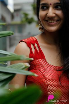Edge: Skirts & Dresses - House of Ayana Saree Blouse Neck Designs, Simple Blouse Designs, Kurta Neck Design, Stylish Blouse Design, Dress Neck Designs, Sleeve Designs, Design Of Blouse, Sari Design, Frock Design