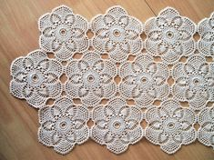 READY TO SHIP FREE SHIPPING WORLDWIDE Crochet tablerunner made by crochet patchwort technique. Beautiful peace to make your home more elegant. Dimensions: 36x77 cm/14,2x30,3 inch Colour: white Material: 100% cotton yarn It is also possible to order the same pattern in other colour
