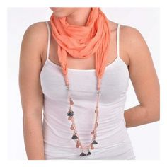 Welcome to Blε - Ble Resort Collection Scarf Necklace, Crochet Necklace, Beaded Necklace, Dress Collection, Orange Color, Sun Dresses, Chain, Scarfs, Cotton