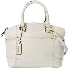 Women's Top-Handle Handbags - Tignanello Pretty Pockets Satchel Eggshell ** Check this awesome product by going to the link at the image.