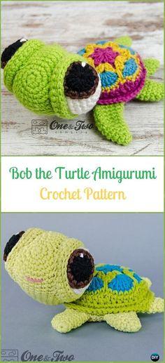 Crochet Bob the Turtle Amigurumi Paid Pattern - Crochet Turtle Amigurumi Patterns