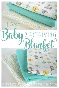 New baby diy sewing boy receiving blankets Ideas Recieving Blankets, Baby Receiving Blankets, Flannel Baby Blankets, Diy Baby Blankets, Homemade Blankets, How To Sew Baby Blanket, Easy Baby Blanket, Blanket Crochet, Baby Sewing Projects