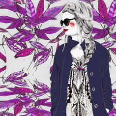 High Fashion Female with sunglasses & a coat. Wearing a couture patterned dress. Experimenting with different mediums and styles to create a new series of works. Different Media, Faber Castell, New Series, Digital Illustration, Dress Patterns, Modern Art, High Fashion, To My Daughter, Vibrant
