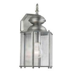 Illumine Burton 1-Light Olde Nickel Incandescent Wall Light-CLI-FRT1007-01-54 at The Home Depot