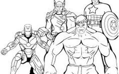 Latest Avengers Coloring Pages To Print Ideas