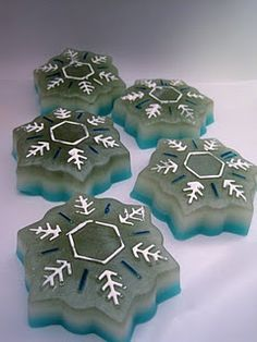 Snowflake Jello-shots from My Jello Americans.
