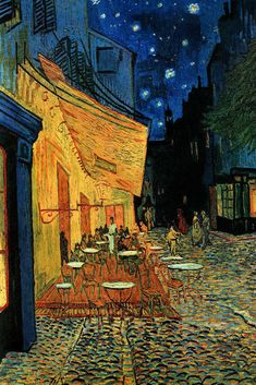 """A beautiful poster of the famous painting """"Cafe Terrace at Night"""" by Vincent Van Gogh! An iconic masterpiece of Fine Art. You should """"Gogh"""" check out the rest of our selection of Van Gogh posters! Vincent Van Gogh, Van Gogh Art, Van Gogh Paintings, Kunst Poster, Famous Art, Art And Illustration, Claude Monet, Mellow Yellow, Aesthetic Art"""