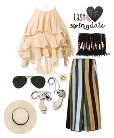 """""""Spring passes & one remembers one's innocence"""" by obsessedaboutstyle on Polyvore featuring Balmain, STELLA McCARTNEY, Circus Hotel, 3.1 Phillip Lim, Ray-Ban, Big Bud Press, Summer and Spring"""