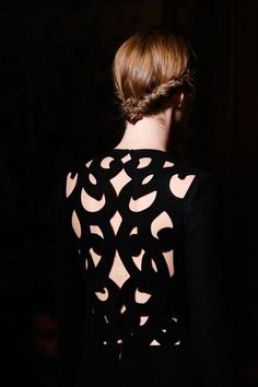 Back details #Valentino Couture, Fall 2013 #cutwork #fashion