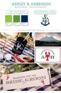 love the lobster monogram Wedding Logos, Wedding Events, Beach Wedding Inspiration, Wedding Ideas, Lobster Bake Party, Navy And Green, Navy Blue, Best Friend Soul Mate, Nantucket Wedding