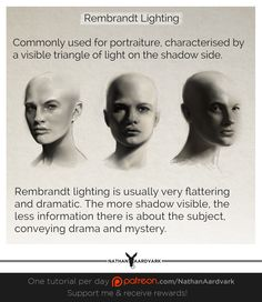 I chose this pin because it shows three ways that you can use the Rembrandt triangle.