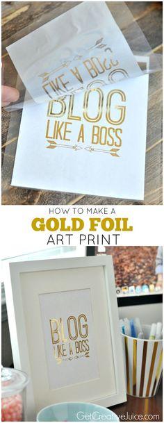 How to make a Gold Foil Art Print - DIY Tutorial