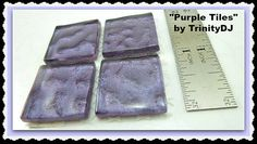 Deep Purple Tiles Cabochons Watermark Tiles by TrinityDJBoutique