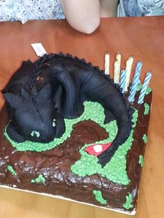 How To Train Your Dragon Cake Toothless Cake For My Son S