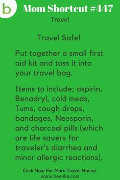 Incredible Travel Hacks For Your Next Family Adventure! An easy DIY travel first aid kit you can put together and toss in your bag.