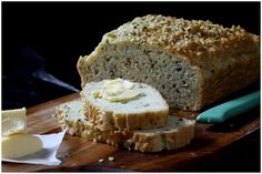 Grain and Gluten-free Bread   Guest Post by Sherilyn from Whole Promise    1½ cups almond meal  ¾ cups arrowroot flour  ¼ cup hemp seeds + 1 tbsp (or 1 tbsp pumpkin ground seeds also works well)  ½ tsp sea salt  ½ tsp baking soda  2 tsp fennel seeds  ½ cup parmesan or pecorino cheese  5 (free-range or organic) eggs  1½ tsp apple cider vinegar