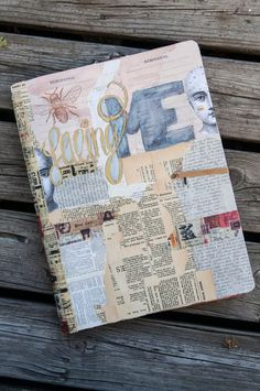 Art journal for made for my project #facingME. I took a Dylusion journal and collaged it to fit my project.