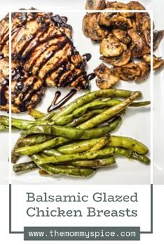 Quick and easy Balsamic Glazed Chicken! Perfect for a fancy dinner or a casual weeknight meal! #balsamicchicken Best Chicken Recipes, Turkey Recipes, Mexican Food Recipes, Dinner Recipes, Chicken Ideas, Healthy Recipes, Top Recipes, Easy Weeknight Meals, Quick Meals