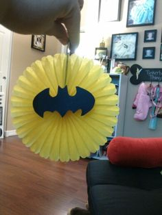 DIY batman decoration for a batman baby shower