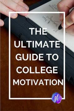 The ULTIMATE Guide to College Motivation! - Sara Laughed | Get focused as a college student with these tips. They may even help you study better and pay attention in class more!
