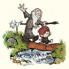 Calvin and Hobbes- Hobbit Style