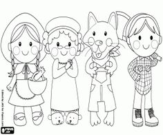 Characters from Red Riding Hood coloring page