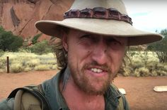 Australian Man\'s Novel Approach To Fly Problem   Note: Some Australian cursing, but his accent is so soothing is sounds like romance poetry.  This is a video of an Australian outdoorsman in Uluru, ... drwong.live/...