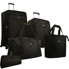 Travel Gear Star Bright 5 Piece Luggage Set Black One Size *** You can find more details by visiting the image link.