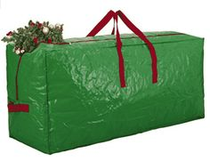 Zober Extra Large Christmas Tree Bag - Artificial Christmas Tree Storage for Un-Assembled Trees up to Tall with Sleek Zipper - Also Accommodates Holiday Inflatables Christmas Tree Tote, Christmas Tree Storage Bag, Holiday Storage, Cool Christmas Trees, Christmas Tree Ornaments, Xmas Trees, Green Christmas, Large Storage Bags, Tote Storage