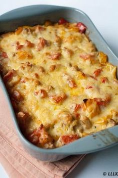 Kip met paprika en roomkaas uit de oven