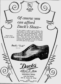 Can't Afford Not to Own Dack's Shoes (circa 1930)