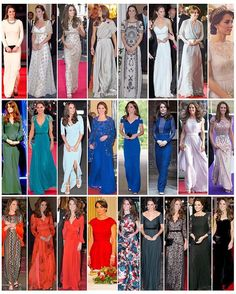 These are all of the gowns Kate has worn over the past five years since becoming a Duchess (Sorry there is no full length photo of two of them). Do you have an all time favourite??