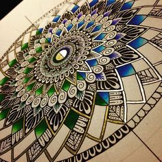 Almost done with this one . . . . . . . . . . . . #mandalas #mandaladoodle #mandalaart #mandalalove #mandala #drawart #drawnbyme…