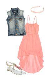 Kiddo Dress, Peek Vest & Cara Accessories Headband (Big Girls)