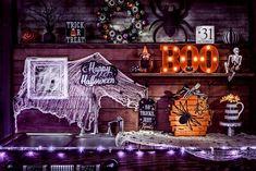 Halloween fun :) #DIYdecor #falldecor #Halloween Outdoor Kitchen Sink, Outdoor Sinks, Wooden Pumpkins, Fall Pumpkins, Outdoor Halloween, Happy Halloween, Halloween Ideas, Diy Step By Step, Celebrate Good Times