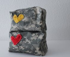 ACU Makeup Bags - lot's of other really cute bags and totes from this Etsy Shop!