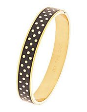 On The Dot Hinged Bangle Bracelet