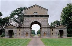 Entry Arch, Holkham Hall. William Kent, architect. 1734 to 1764