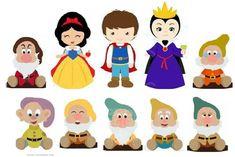 Branca de neve e os sete anões Baixar moldes da branca de neve, sete anões, príncipe e bruxa. Branca de neve e os sete anões Person...