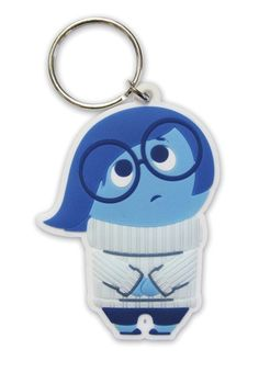 Inside Out - Sadness - Rubber Key Ring. Metal chain. Officially licensed…