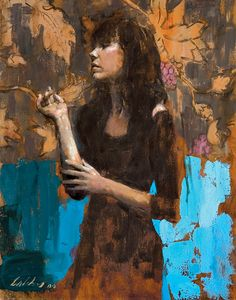 "Gregory Calibey -  ""Femme Bleu"" - oil on linen -  20 X 16 in. Underpaintings"