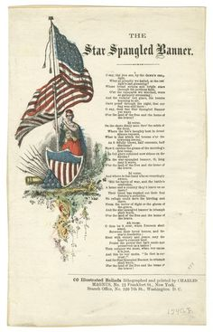 1814 Star Spangled Banner by Frances Scott Key. Us History, History Facts, American History, American Flag, American Songs, American Pride, American Girl, I Love America, God Bless America