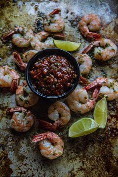 Roasted Asian Shrimp Cocktail @heatherchristo