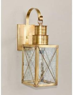 Brass Traditions Wall Lantern in Antique Brass Outdoor Barn Lighting, Outdoor Hanging Lanterns, Coastal Lighting, Outdoor Sconces, Outdoor Wall Lantern, Porch Lighting, Farmhouse Lighting, Wall Sconce Lighting, Outdoor Walls