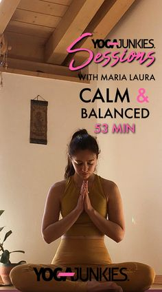 Join Maria Laura for this Calm & Balanced Yoga Session if you're feeling overwhelmed, anxious or have trouble sleeping. Fold forward to let go, twist to bala. Trouble Sleeping, Yoga Session, Good Friday, Feeling Overwhelmed, Anxious, Yoga Fitness, Letting Go, Calm, Feelings