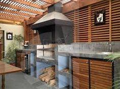 Resultado de imagen para quincho moderno Summer Kitchen, Outdoor Decor, House, Patio Kitchen, Home, Outdoor Pizza, Outdoor Rooms, Backyard Landscaping Designs, Built In Braai